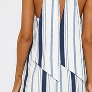 Navy stripe mini dress